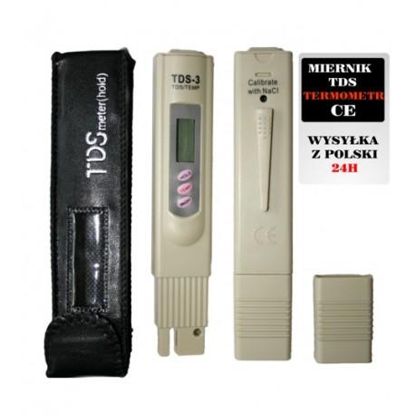 Miernik TDS - 3 Termometr tester Czystości Wody CE